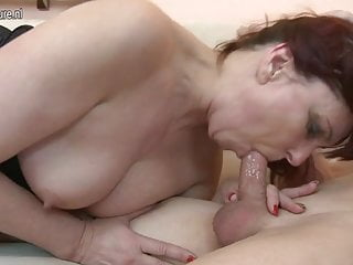 Dirty mature MOM fucking her young boy