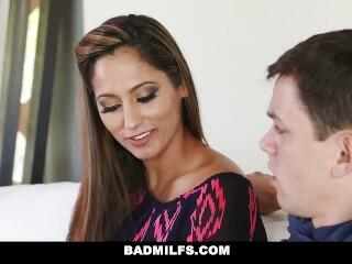 BadMilfs - Busty Milf Teaches Son How To Fuck